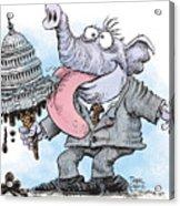 Republicans Lick Congress Acrylic Print