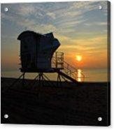 Rescue Tower Sunrise Acrylic Print