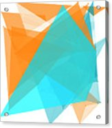 Research Polygon Pattern Acrylic Print