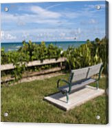 Reserved For A Visitor To East Coast Florida Acrylic Print