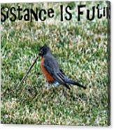 Resistance Is Futile Acrylic Print