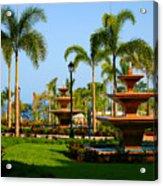 Resort Fountains Acrylic Print