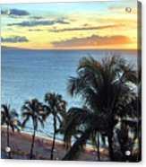 Resort Sunset Acrylic Print