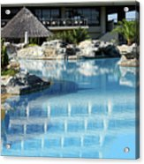 Resort With Swimming Pool Acrylic Print
