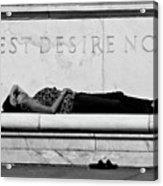 Rest Desire Not Acrylic Print