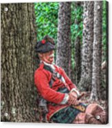 Rest From The March Royal Highlander Acrylic Print