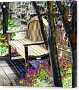 Rest In The Garden Acrylic Print