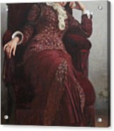 Rest. Portrait of Vera Repina, the Artist's Wife. Acrylic Print
