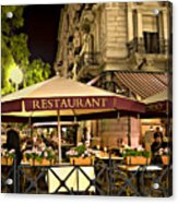 Restaurant In Budapest Acrylic Print by Madeline Ellis