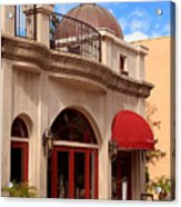 Restaurant In The Plaza Acrylic Print