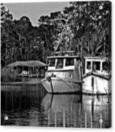 Resting Shrimp Boats Acrylic Print
