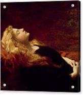 Resting Acrylic Print by Victor Gabriel Gilbert
