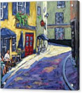 Resto Le Cochon Dingue  In Old Quebec Acrylic Print