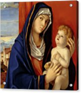 Restored Old Master Madonna And Child  Acrylic Print