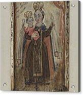 Retablo (our Lady Of Carmel) Acrylic Print