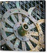 Retired Plow Wheel Acrylic Print