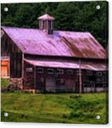 Retired Vermont Farm Acrylic Print