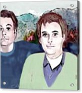 Retrato Mis Hijos Andres - Alejandro Acrylic Print