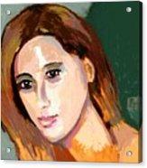 Retrato Patricia Acrylic Print