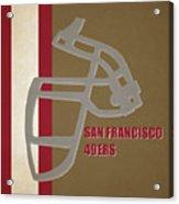 Retro 49ers Art Acrylic Print