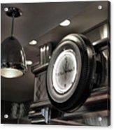 Retro 50's Clock Restaurant  Acrylic Print