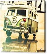 Retro 60s Toy Van Acrylic Print