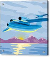 Retro Airliner Flying  Acrylic Print
