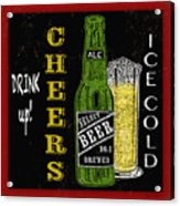 Retro Beer Sign-jp2915 Acrylic Print