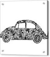 Retro Beetle Car 2 Acrylic Print