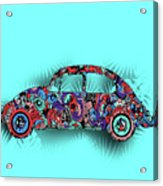 Retro Beetle Car 5 Acrylic Print
