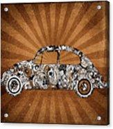 Retro Beetle Car Acrylic Print