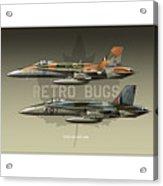 Retro Bugs Acrylic Print