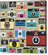 Retro Camera Pattern Acrylic Print