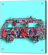 Retro Camper Van 3 Acrylic Print