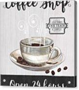 Retro Coffee Shop 1 Acrylic Print