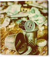 Retro Craft Buckets Acrylic Print