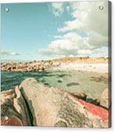 Retro Filtered Beach Background Acrylic Print