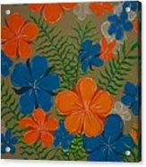 Retro Flowers Acrylic Print
