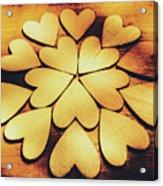 Retro Heart Connection Acrylic Print
