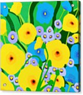Retro Meadow Acrylic Print