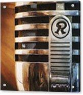 Retro Microphone Acrylic Print