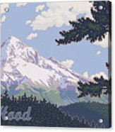 Retro Mount Hood Acrylic Print