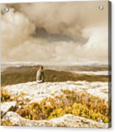 Retro Mountaintop Views Acrylic Print