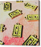 Retro Music Tapes Acrylic Print