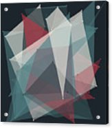 Retro Polygon Pattern Acrylic Print