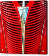 Retro Red Grille Acrylic Print