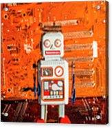 Retro Robotic Nostalgia Acrylic Print