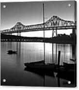 Retro San Francisco Oakland Bay Bridge Acrylic Print