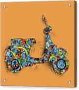 Retro Scooter 2 Acrylic Print