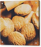 Retro Shortbread Biscuits In Old Kitchen Acrylic Print